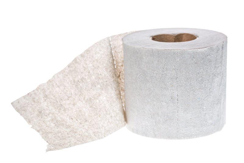 Rotolo semplice della carta igienica isolato su fondo bianco fotografia stock