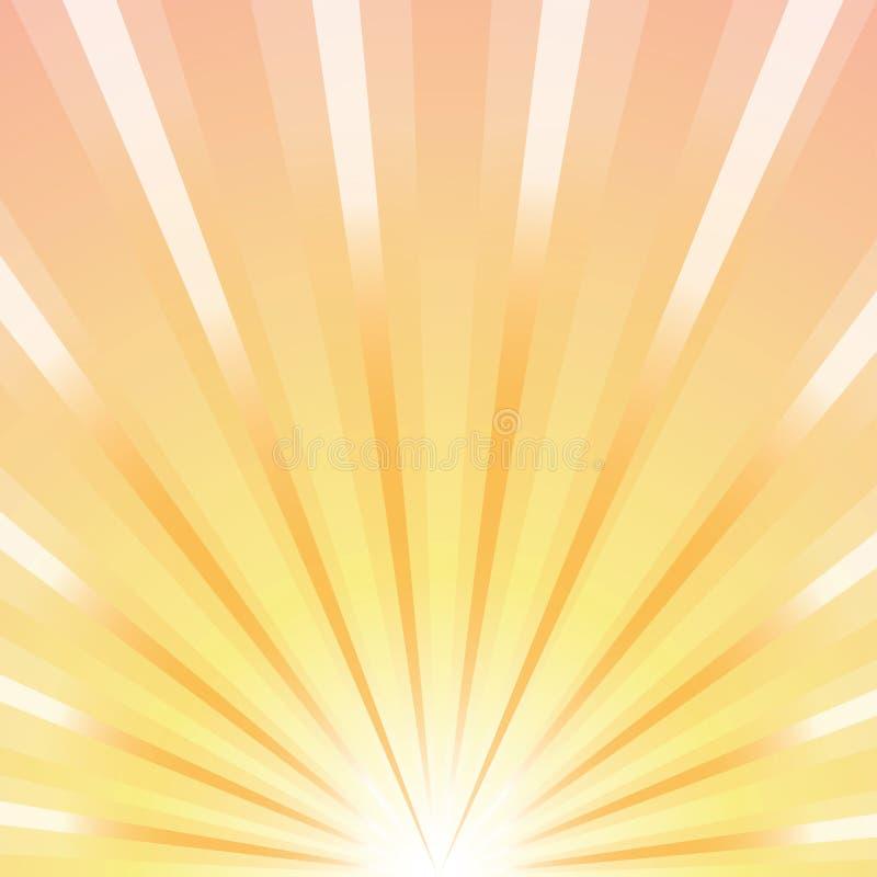 Rotolo su un fondo di luce solare illustrazione di stock