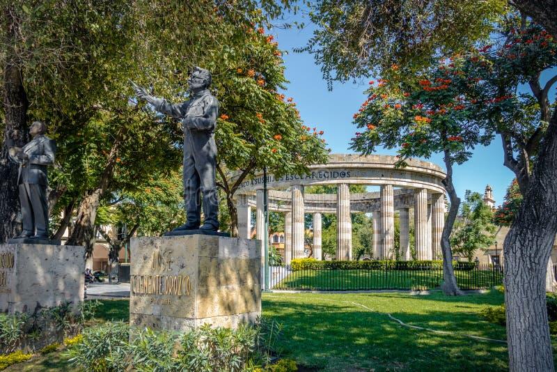 Rotonda de los Jalisciences Ilustres -瓜达拉哈拉,哈利斯科州,墨西哥 免版税库存照片