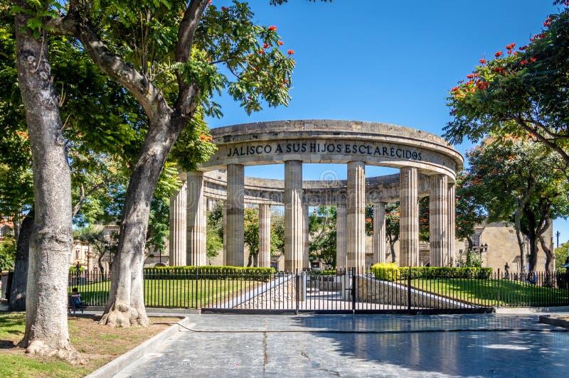 Rotonda de los Jalisciences Ilustres - Guadalajara, Jalisco, Mexico royaltyfria bilder