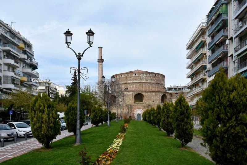 Rotonda i Thessaloniki, den äldsta kyrkan av världen royaltyfri bild
