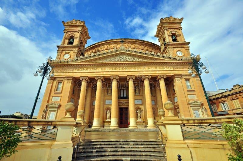 Rotonda-Kirche, Mosta, Malta lizenzfreie stockfotografie