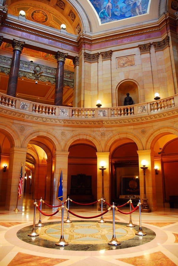 Rotonde van het Capitool van de Staat van Minnesota stock foto's