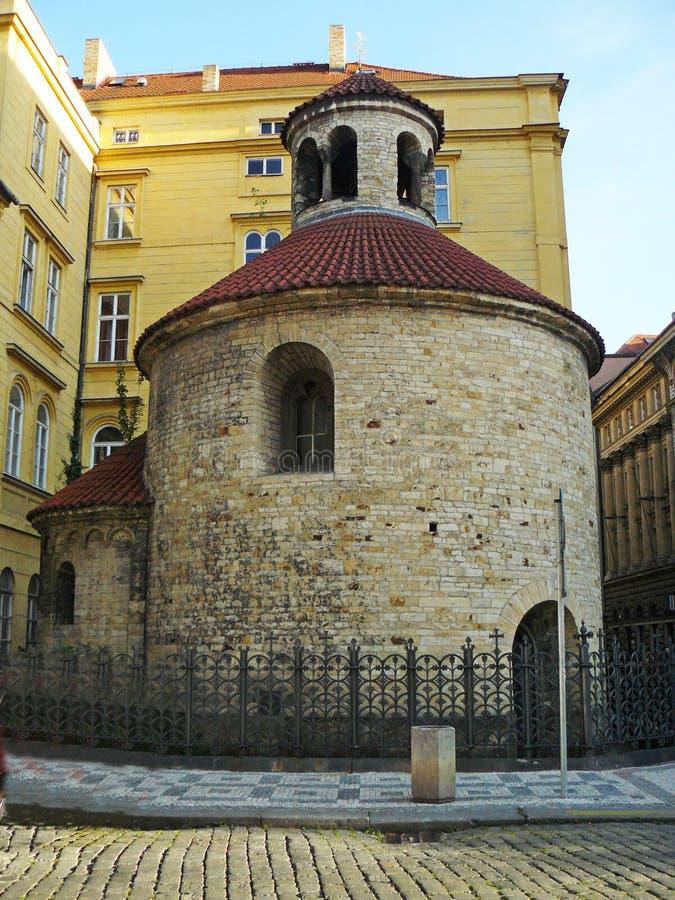 Rotonde van het Heilige Kruis - Praag stock foto's