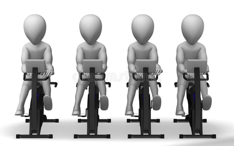 Download Rotoped ilustracji. Ilustracja złożonej z rower, mężczyzna - 13327938