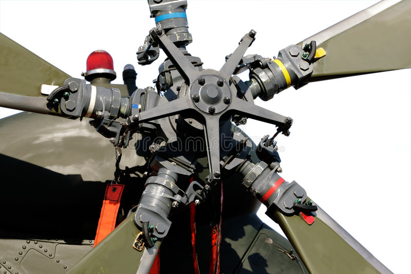 Rotor de cauda do helicóptero imagem de stock