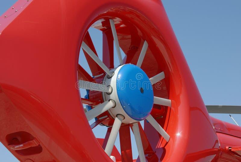 Rotor de cola del helicóptero imagen de archivo libre de regalías