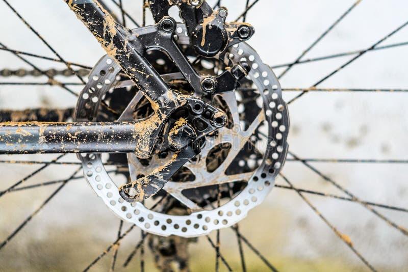 Rotor de la bicicleta del freno hidráulico posterior foto de archivo libre de regalías