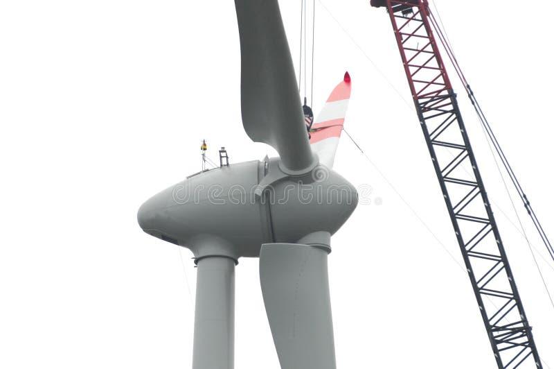 Rotor de turbina do vento fotos de stock royalty free