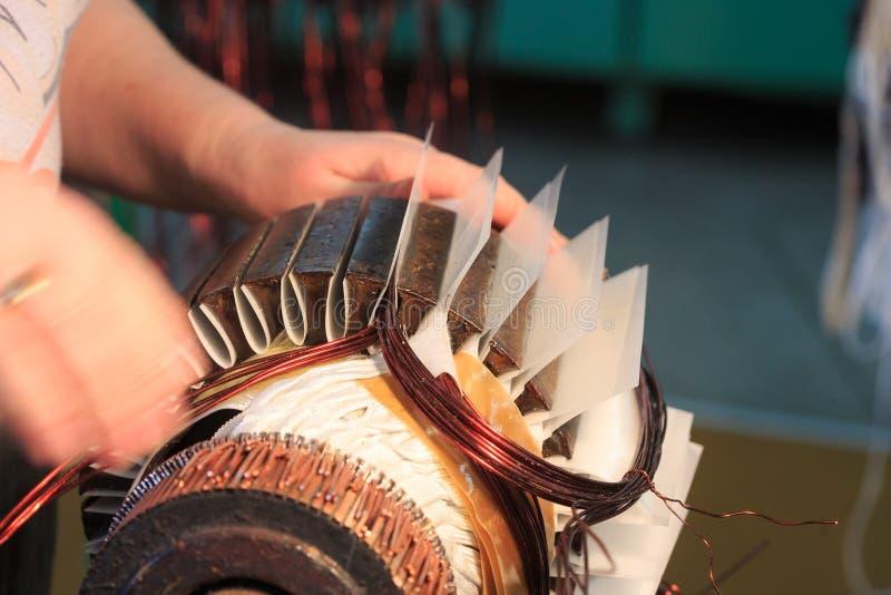 Rotor del motor eléctrico de la acción imagen de archivo libre de regalías