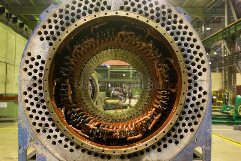 Rotor del motor eléctrico de la acción imágenes de archivo libres de regalías