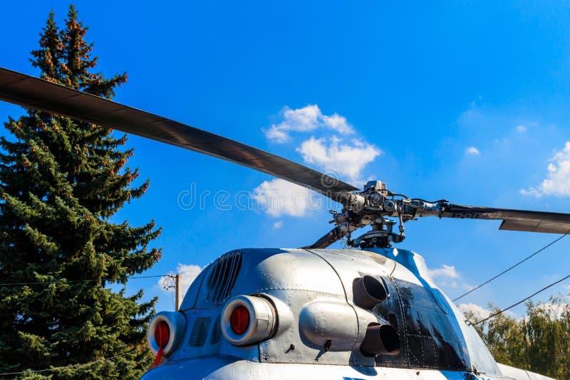 Rotor do close-up do helicóptero imagens de stock royalty free