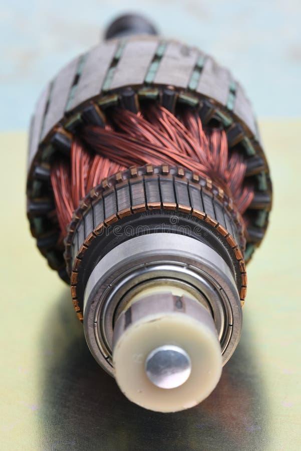 Rotor do close-up do motor elétrico foto de stock royalty free