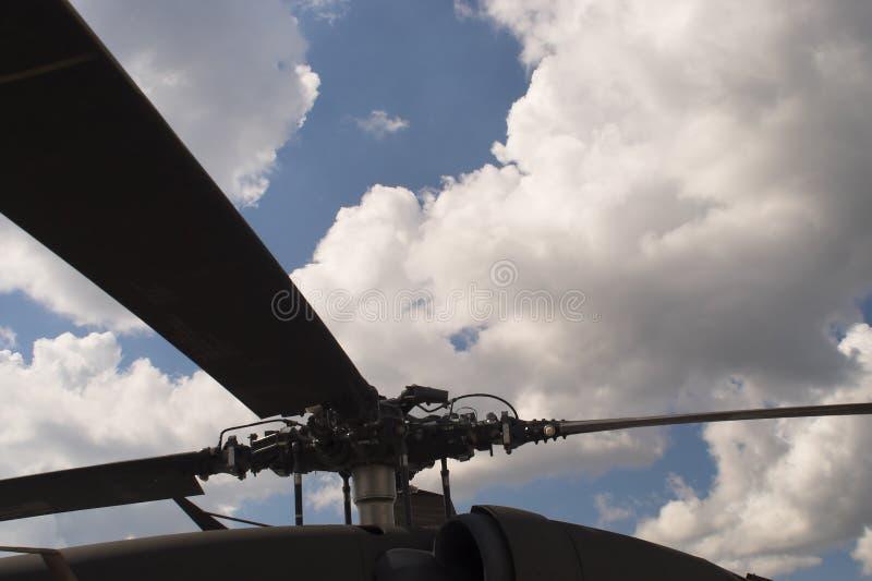 Rotor do helicóptero fotos de stock royalty free