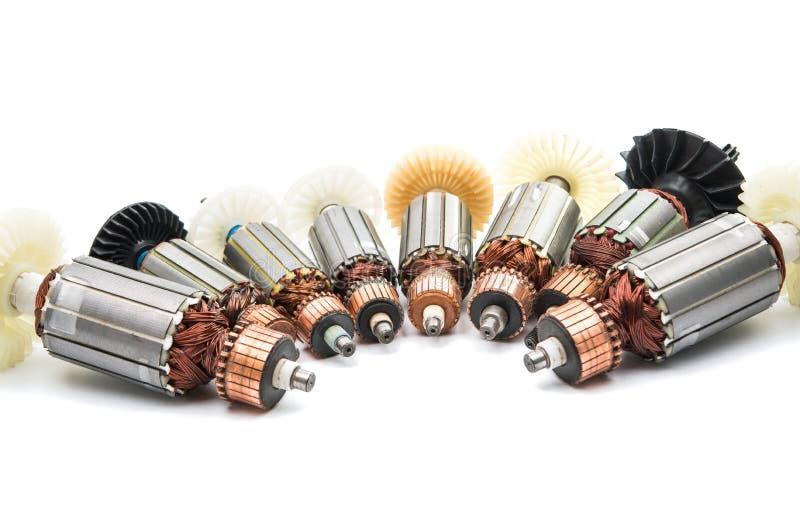 Rotor do motor bonde isolado imagens de stock