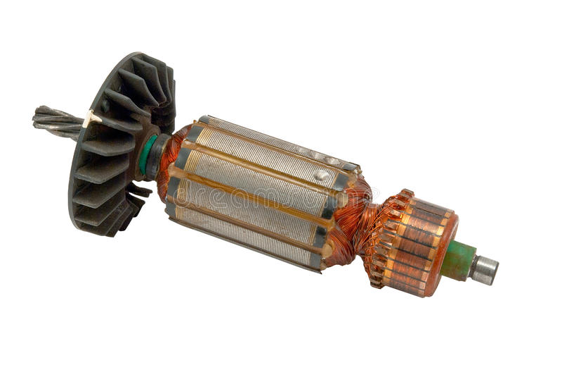 Rotor do motor elétrico fotografia de stock