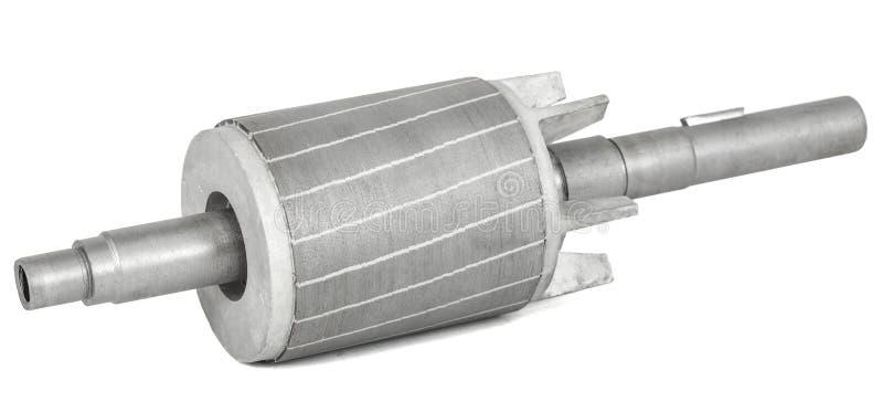 Rotor do motor elétrico, isolado no fundo branco foto de stock