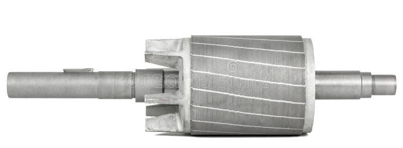 Rotor do motor elétrico, isolado no fundo branco imagens de stock royalty free