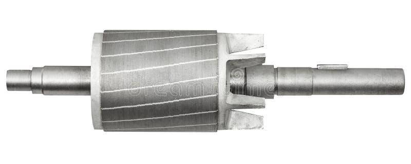 Rotor do motor elétrico, isolado no fundo branco foto de stock royalty free