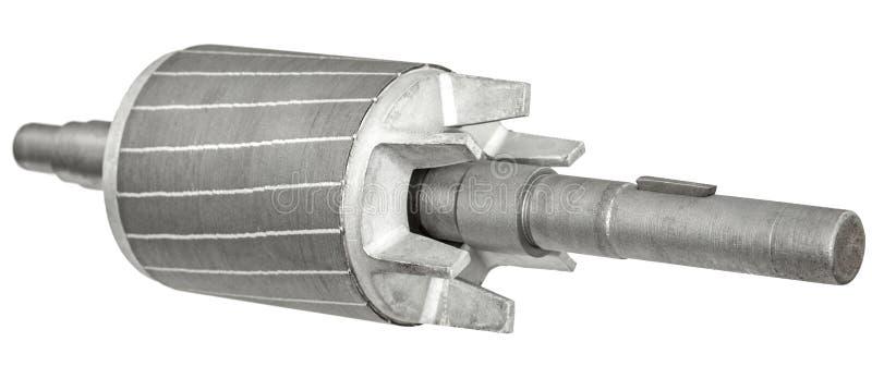 Rotor do motor elétrico, isolado no fundo branco fotos de stock