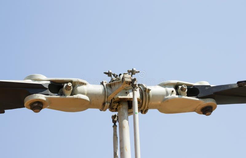 Rotor et lames d'hélicoptère images libres de droits