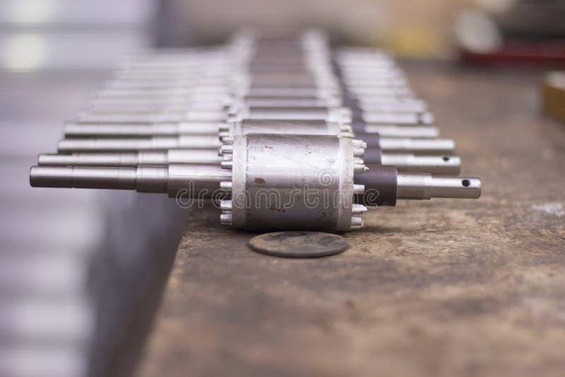Rotor f?r elektrisk motor av materielet arkivbild