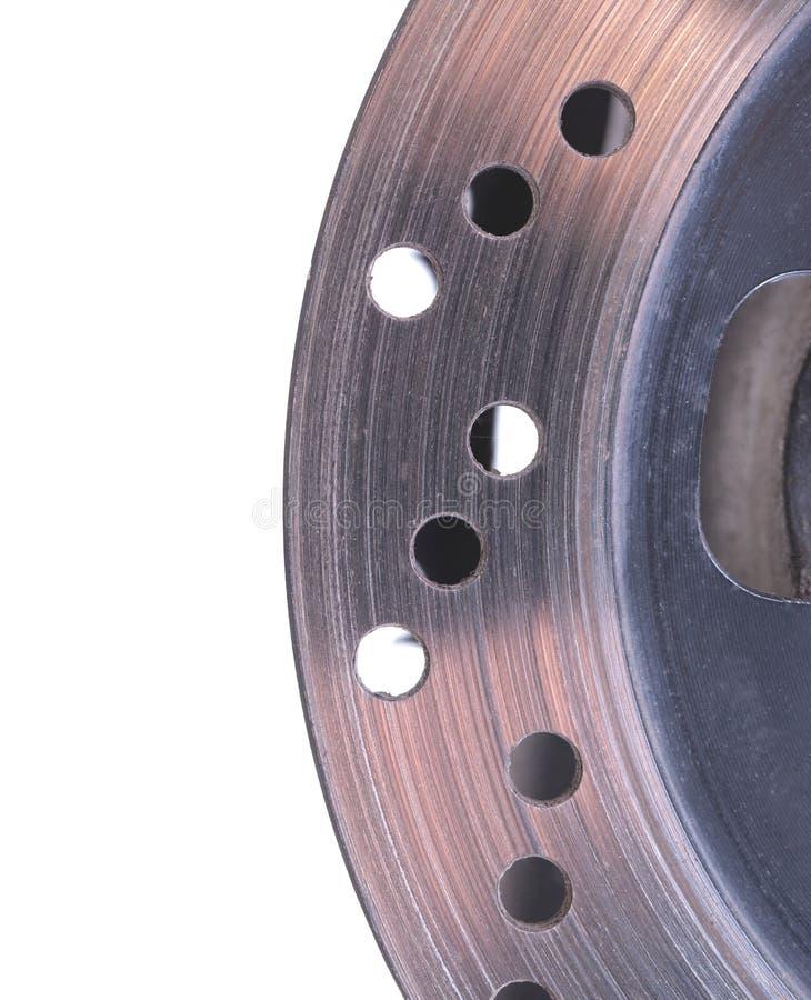 Rotor simple de frein à disque d'une moto photo libre de droits