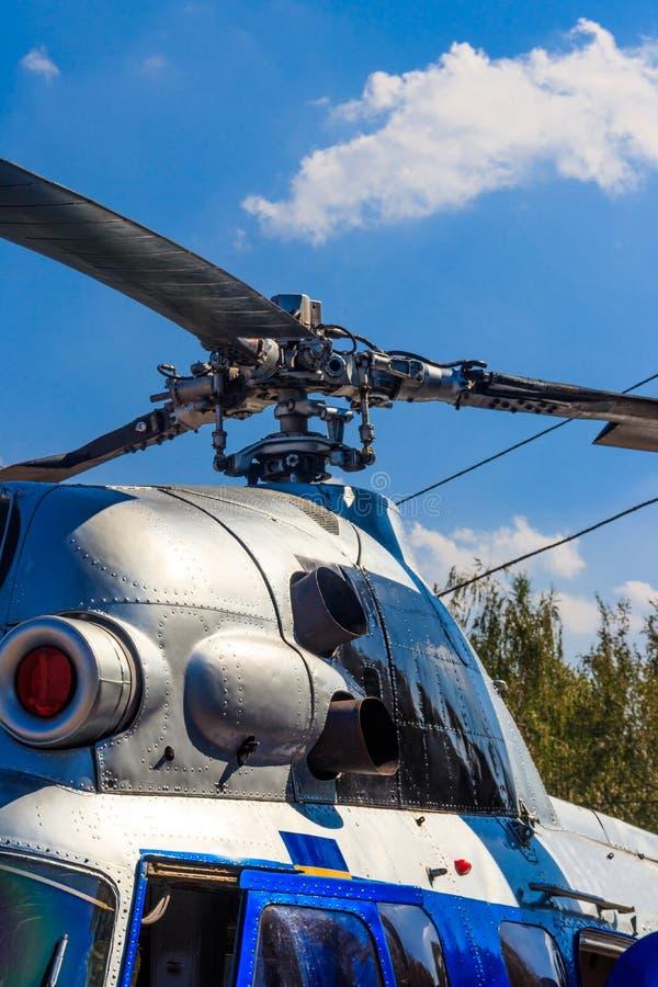 Rotor van helikopterclose-up stock afbeelding