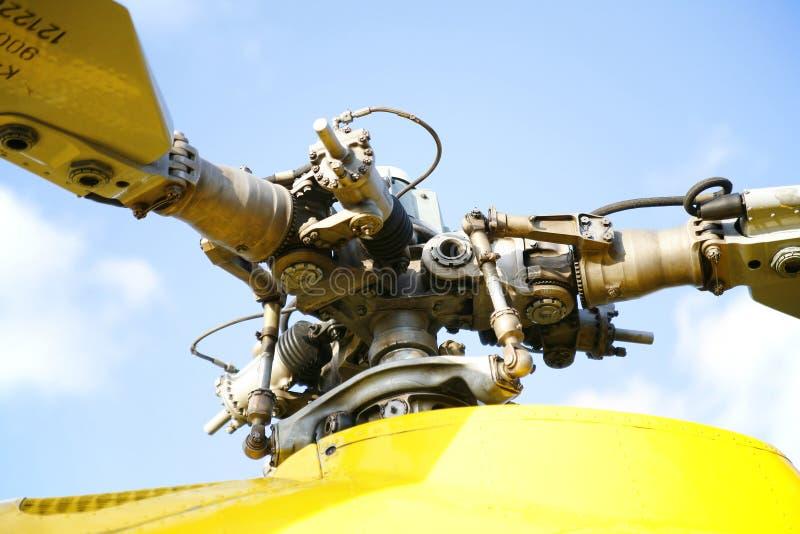 Rotor van reddingshelikopter stock foto