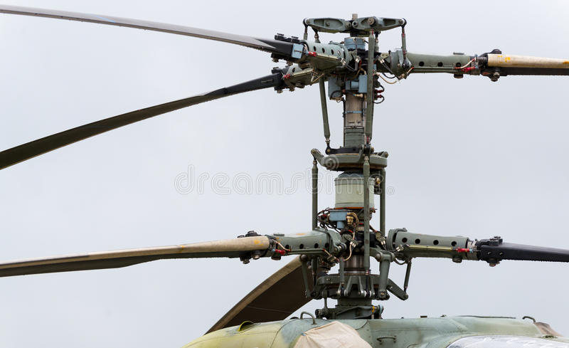 Rotor von modernen Militärhubschraubern stockbilder