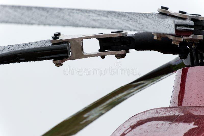 Rotor von modernen Militärhubschraubern lizenzfreie stockfotos