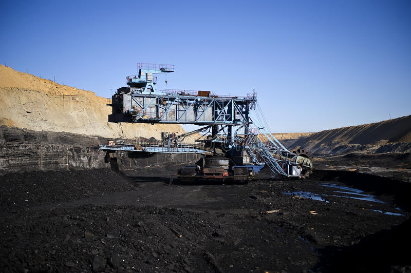 Rotornyj dredge. For a coal mining stock images
