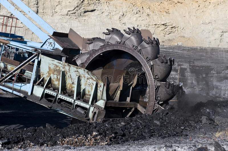 Rotornyj dredge. For a coal mining stock image