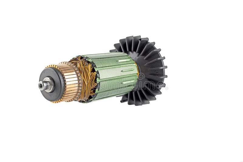 Rotorowy elektryczny silnik fotografia stock