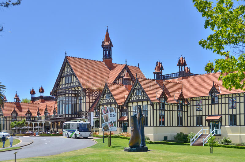 Rotorua-Museum stockfotografie