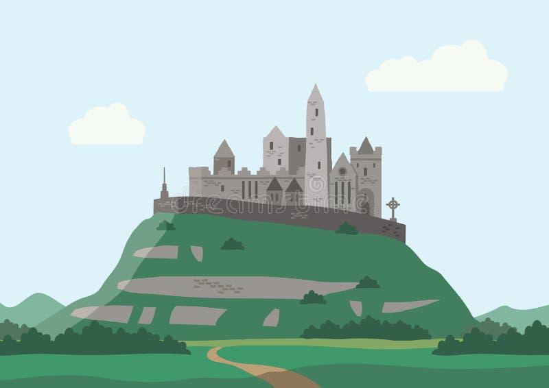 Rots van Cashel, Ierland royalty-vrije illustratie