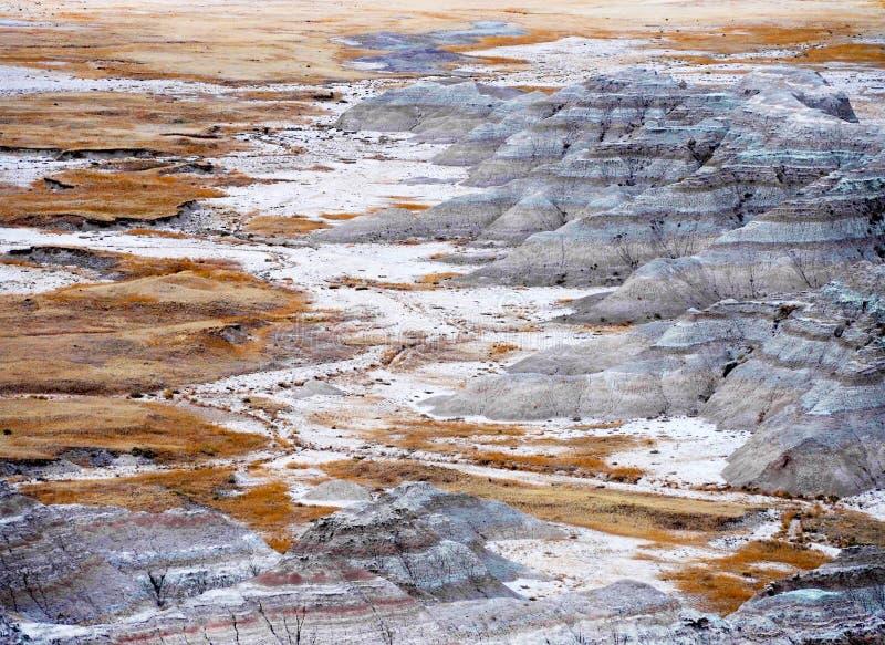 Badlands, Zuid-Dakota, de V.S. royalty-vrije stock foto's