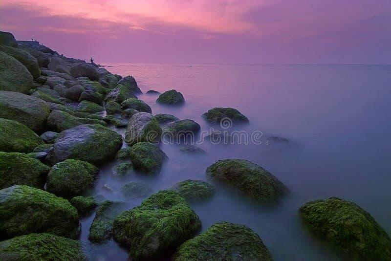 Rotsachtig Strand stock foto's