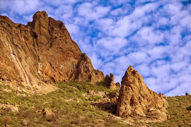 Rotsachtig terrein in Gran Canaria stock afbeelding