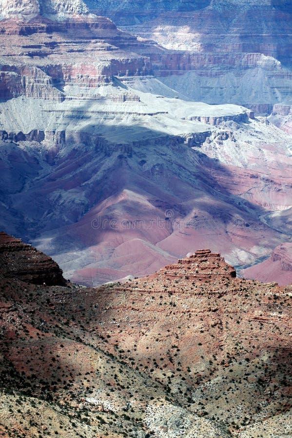 Rotsachtig terrein van Grote Canion stock afbeeldingen