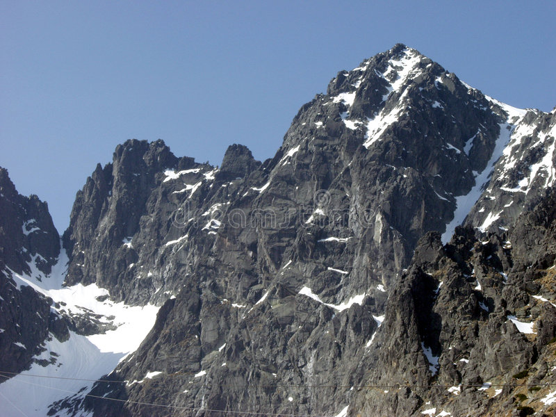 Rotsachtige berg stock fotografie
