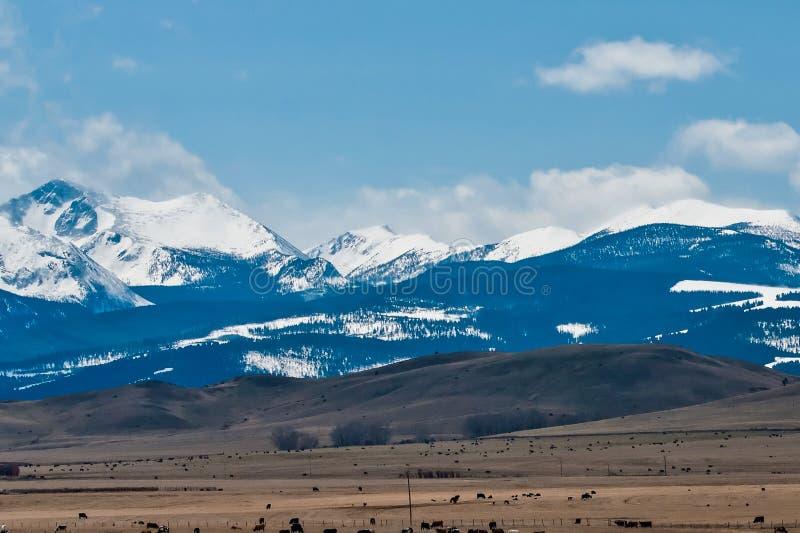 Rotsachtige bergen royalty-vrije stock afbeeldingen