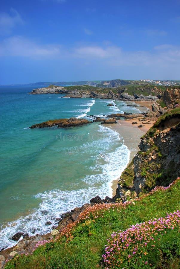 Rotsachtige kust stock fotografie