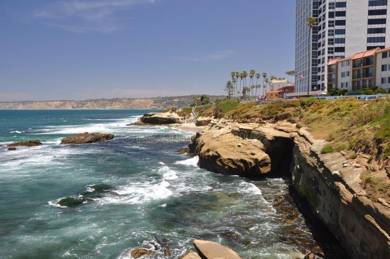 Rotsachtige kust van La Jolla royalty-vrije stock foto