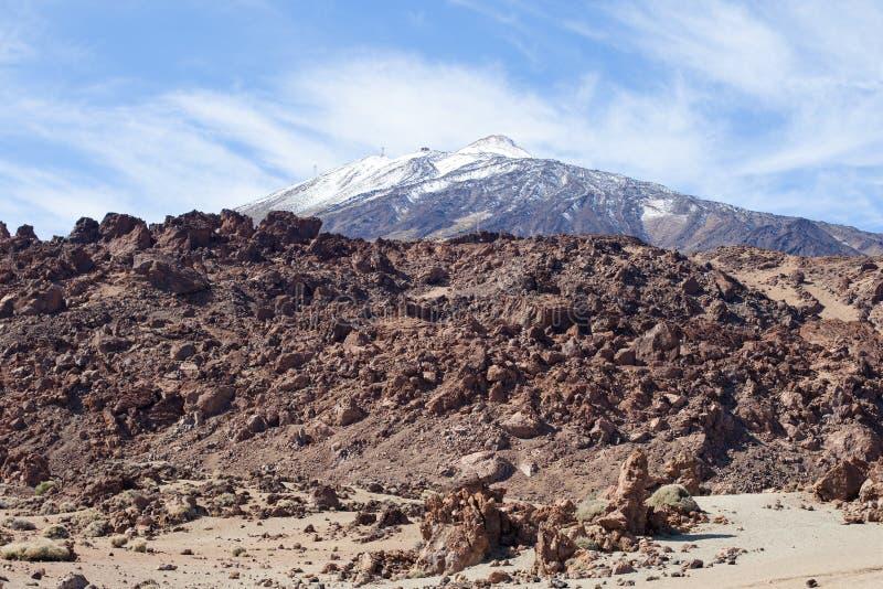 Rotsachtige mening van het Teide de Nationale Park royalty-vrije stock foto