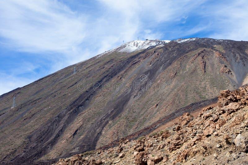 Rotsachtige mening van het Teide de Nationale Park royalty-vrije stock foto's