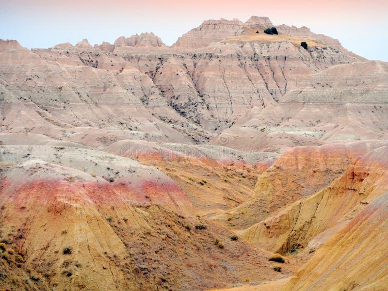 Badlands, Zuid-Dakota, de V.S. stock fotografie