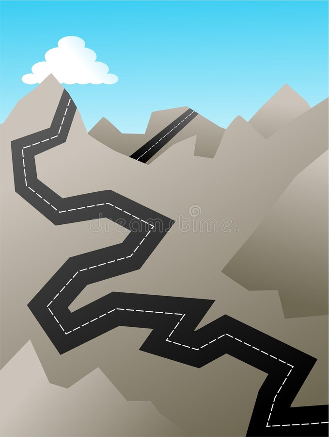 Rotsachtige weg royalty-vrije illustratie