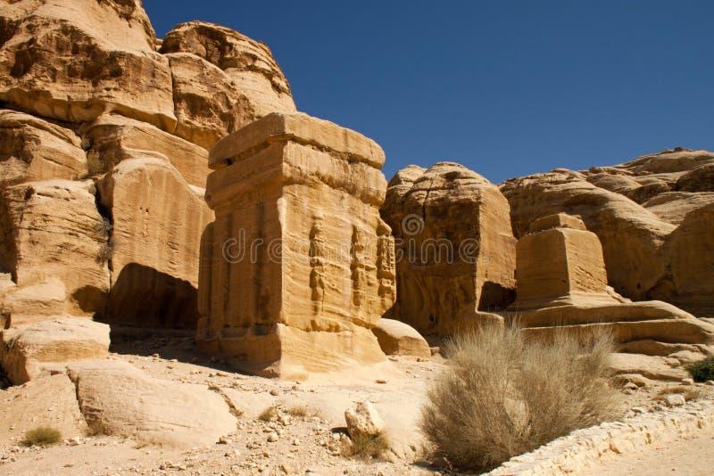 Rotsachtige woestijn van zuidelijk Jordanië, Azië stock foto