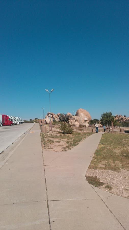 Rotsen bij de parkeerplaats van Arizona royalty-vrije stock afbeelding